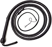 Bull Whip 06 to 16 Feet 12 Strands Real Cowhide Leather Equestrian Bullwhip Leather Belly & Leather Bolste