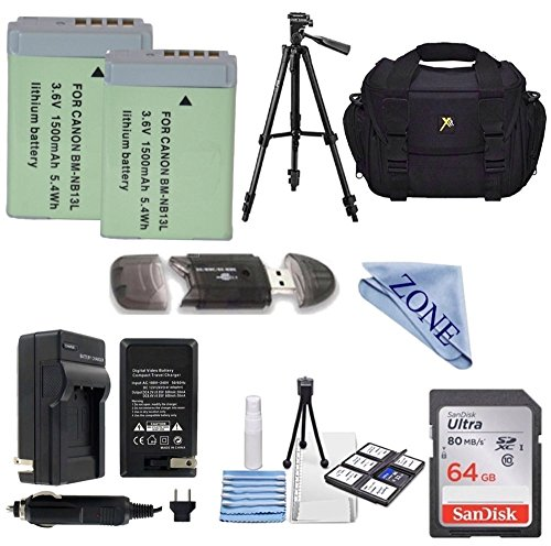 High-Capacity Replacement Batteries withTravel Charger for Select Canon PowerShot Digital cameras: PowerShot G5 X, G7 X, G7 X Mark II ,G9 X,G9 X Mark II,SX620 HS,SX720 HS PRO KIT -  Accessory zone, NB-13LPROKIT