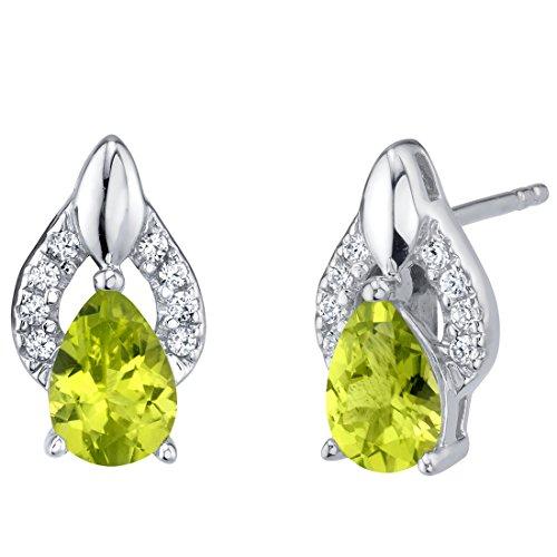 14K Gold 4 mm Genuine Gemstone Stud Earrings Birthstones 1 2 cttw