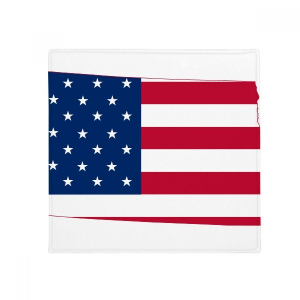 60X60cm DIYthinker North Dakota USA Map Stars Stripes Flag Shape Anti-Slip Floor Pet Mat Square Bathroom Living Room Kitchen Door 60 50Cm Gift