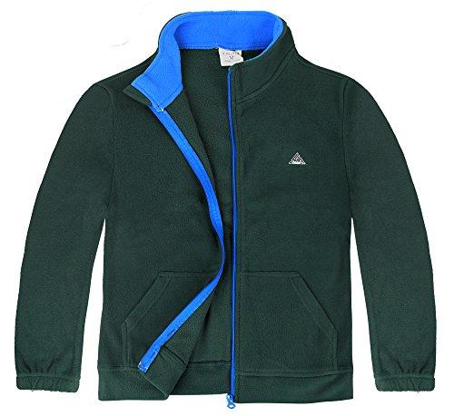 iLoveSIA Big Boy's Winter Warm Full Zip Fleece Jacket US Size M Deep Marine