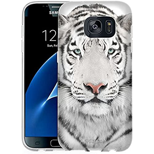 Samsung Galaxy S7 Case, Snap On Cover by Trek White Tiger Face One Piece Slim Case Sales