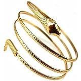 Flyyfree Mode enroulé Serpent spirale Haut du bras Brassard Brassard Bracelet