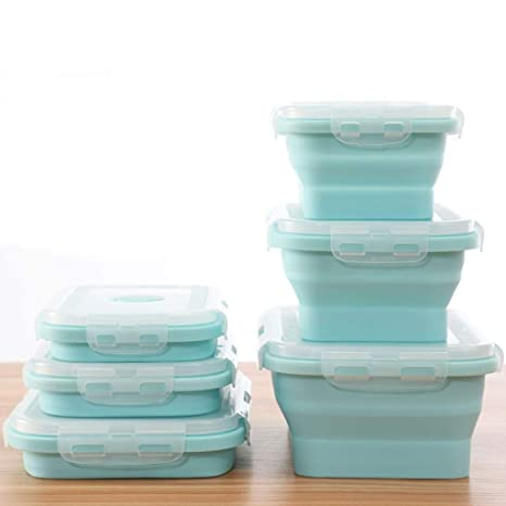 Folding bowl Cuenco Plegable de Silicona para el Almuerzo ...