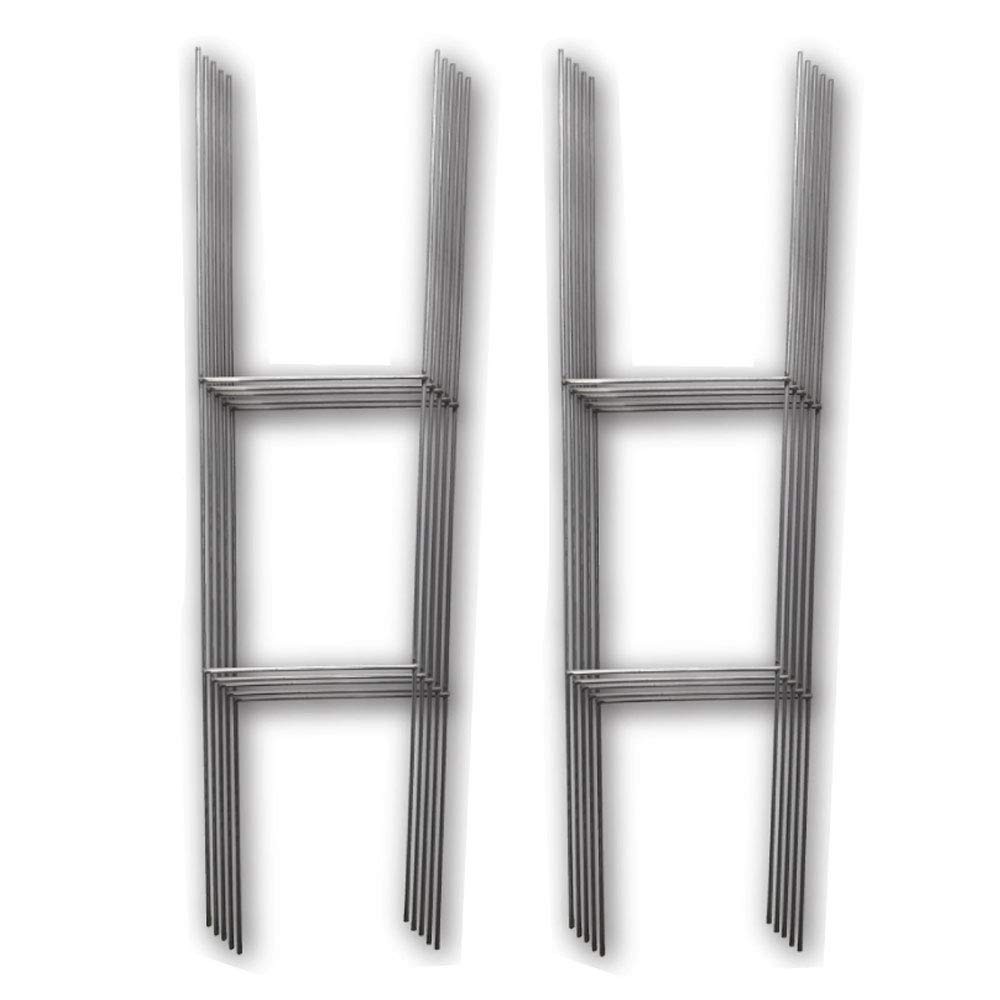 10 Quantity H-stakes for Garage Sale, Political, Charity Tournaments, and Graduations ''H'' Frame Wire Stakes - Yard Sign Stake - Use with 4mm Corrugated Signs