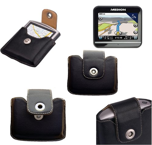 Leather Case Medion: GPS carry case for satellite navigational systems: E 3115 E 3135 E 3212, E3240, MD 96860 E 3215 E 3225 E 3230 MD 97130 E 3315 E 3415 E 34154... by Spartechnik