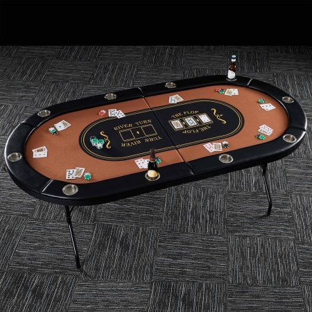 Barrington 10 Player Poker Table 82 x 44 (Money In The Middle Of Poker Table)