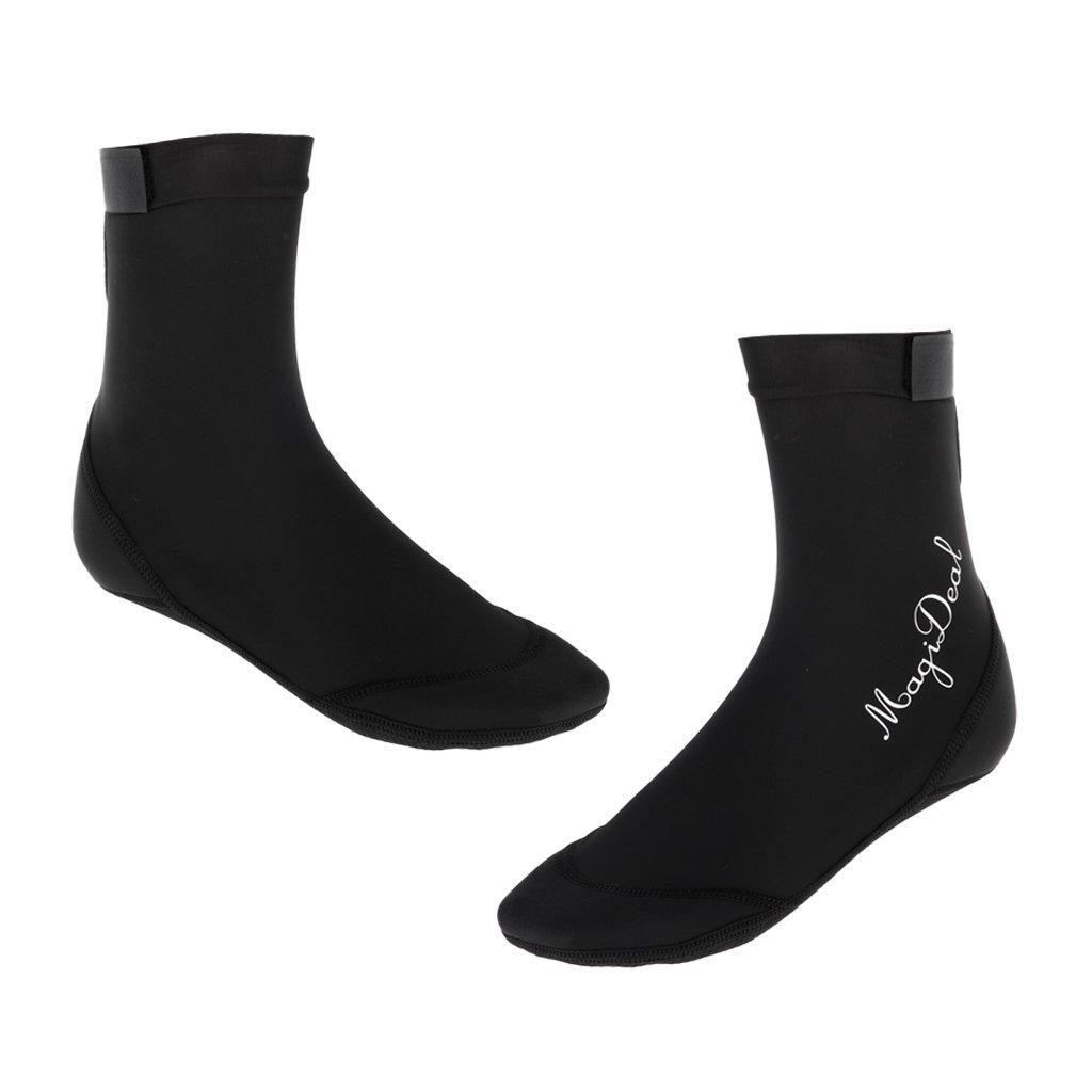Prettyia Mens Womens Boys Girls Beach Pool Swim Water Shoes Aqua Socks for Scuba Diving/Surfing/Kayak/Boating/Yoga/Walking - Black, M