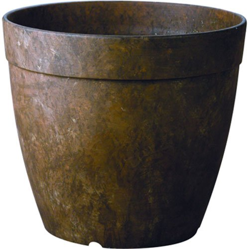 Novelty MFG 03167 Round Dolce Planter, 16-Inch, Teak