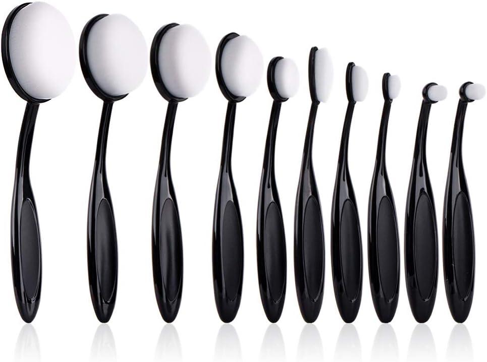UNIMEIX 10 Pack Crafting Ink Blending Brushes Set Background Brush for Blender Paper Crafter(White bristles)