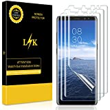 [3 Pack] LK for Samsung Galaxy Note 8 Screen Protector, Liquid Skin [New Version] [Full Coverage] [Case Friendly] HD Clear Flexible Film with Lifetime Replacement Warranty