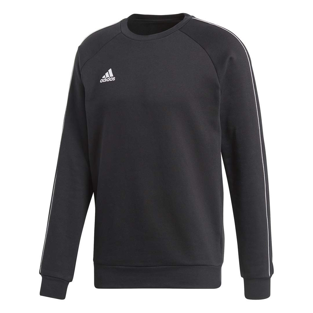 adidas Men's Core 18 Soccer Sweatshirt, Black/White, Small by adidas