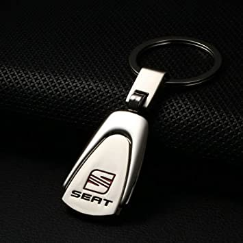Vyset(TM) - Llavero de metal plateado con logotipo de SEAT ...