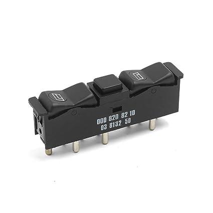 uxcell® Ventana de energía eléctrica interruptor de control apropiado para Mercedes W123 W126 W201 0008208210