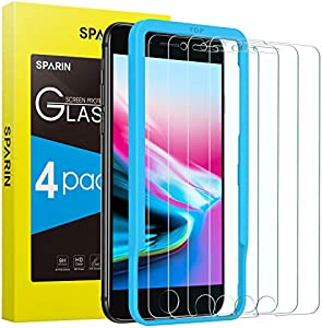 Sweepstakes: [4 Pack] SPARIN Screen Protector for iPhone 8 /iPhone 7...