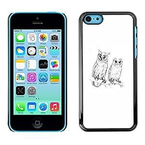 For Apple iPhone 5C Case , Spring Nature Minimalist White Pencil - Diseño Patrón Teléfono Caso Cubierta Case Bumper Duro Protección Case Cover Funda