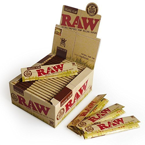 Raw King Size Slim Organic Hemp Rolling Papers Full Box of 50 Packs (Best Hemp Rolling Papers)