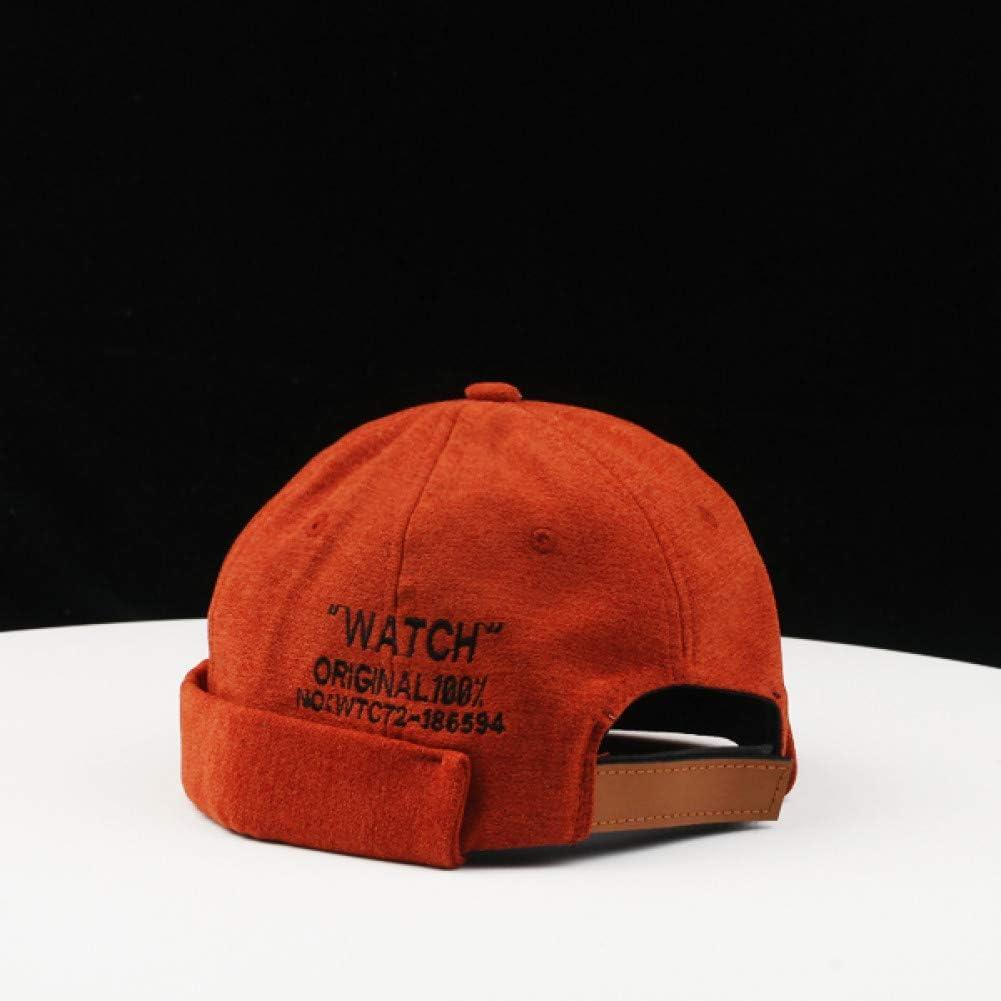 CHENGWJ Baseball cap Hip-Hop Hat Melon Leather Hat Female Capless Hat Sailor Hat