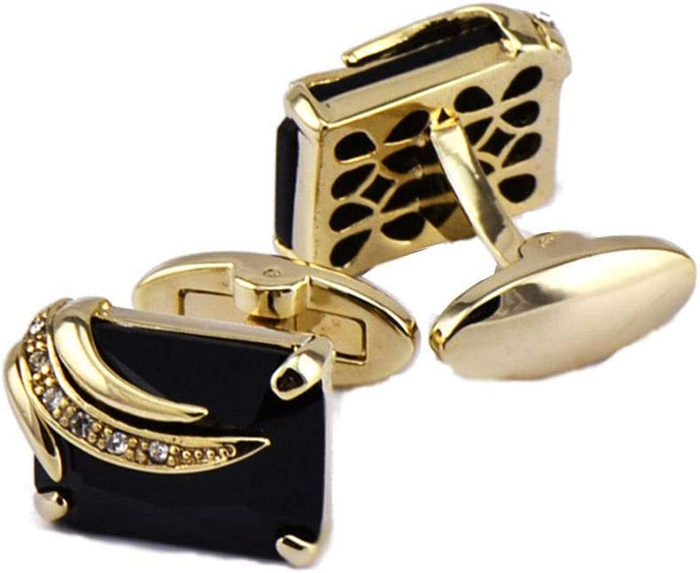 Mens Black Zircon Gemstone Crystal Studded Cufflinks Mens Shirt Cufflinks Business Shirt Mens Metal Cufflinks Accessories Business Mens Fashion Cufflinks Sh HgzBxL Fashionable Cuff Links