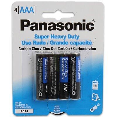 1 pack of Panasonic 4pk AAA Batteries - Super Heavy Duty