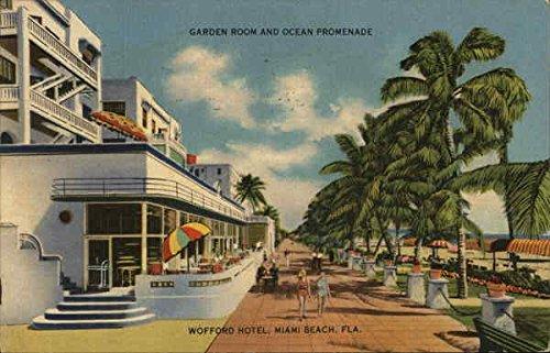 Garden Room and Ocean Promenade, Wofford Hotel Miami Beach, Florida Original Vintage - Florida Promenade