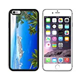 MSD Premium Apple iPhone 6/6S Plus Aluminum Backplate Bumper Snap Case iPhone6 Plus IMAGE ID 35341042 Cruise and beach with palm tree