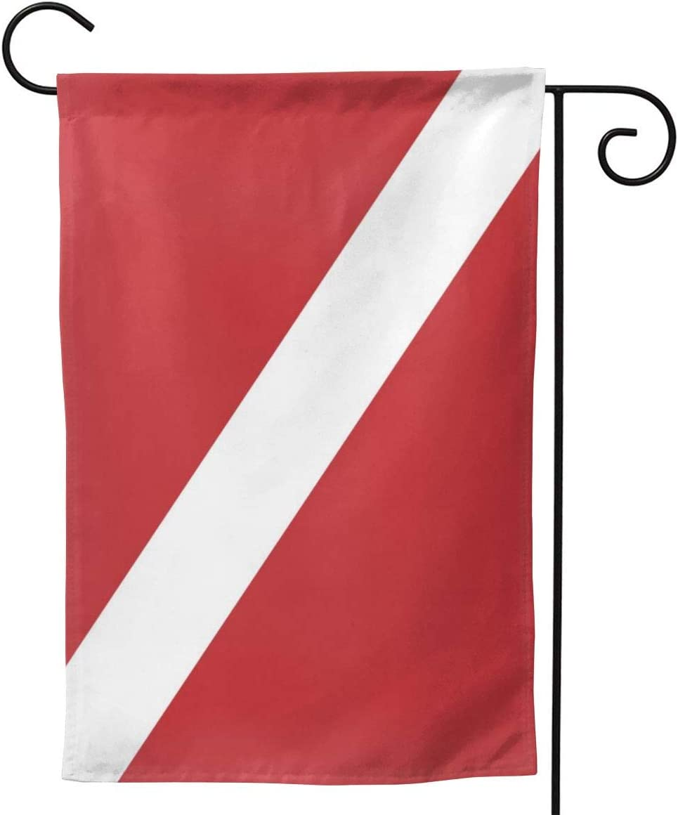 antcreptson Diver Down Flag Garden Flag 12.5x18 Inch Double Sided Decorative Floral Yard Garden House Flag for Spring Outdoor Indoor Decoration