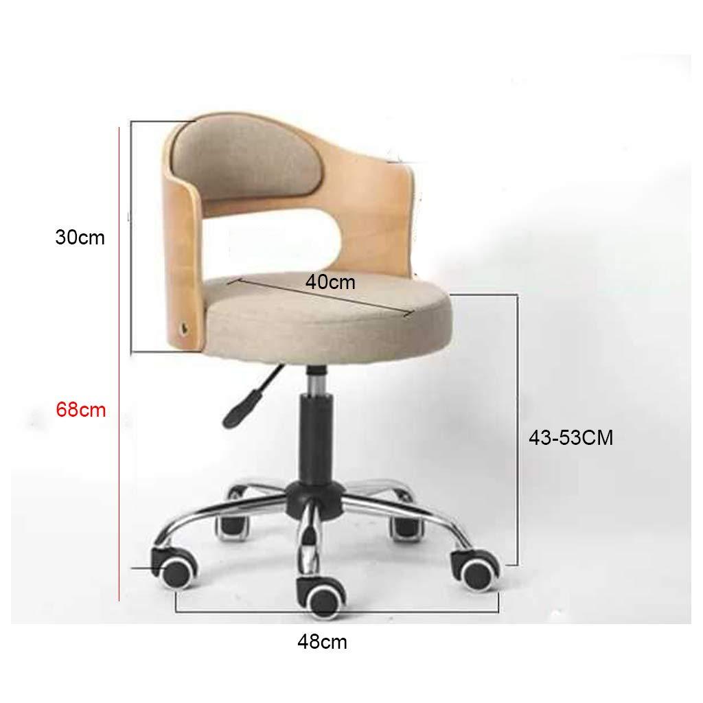 Hem kontor stol dator skrivbord stol uppgift stol stoppad stol höjd justerbar bekväm pall svängbar rullstol för kontorsstudier, orange läder Orange Linen