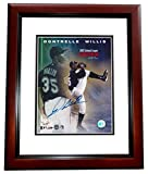 Dontrell Willis Signed - Autographed Florida Marlins 8x10 inch Photo MAHOGANY CUSTOM FRAME - Guaranteed to pass or JSA - PSA/DNA Certified