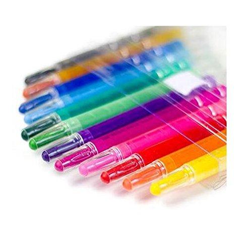 Chris Wang 12colori lavabili Twistable Crayons, girante crayon matita pastelli, acquerelli effetti bastoni, atossici set kit, Great for Kids Face Body painting