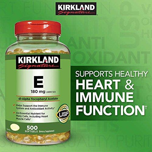 Kirkland Signature Expect More Vitamin E 180mg, 500 Softgels