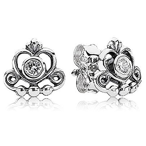 Price comparison product image Pandora My Princess Stud Earrings With Clear Cubic Zirconia 290540CZ