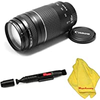 Canon EF 75-300mm f/4-5.6 III Telephoto Zoom Lens + Pen for Canon EOS Rebel XTi