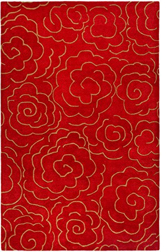 Safavieh Soho Collection SOH812A Handmade Red Premium Wool Area Rug (7'6