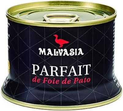 Cesta Gourmet Malvasia. Lote de Productos de Parfait de Foie, Foie y Mousse de Foie de130g.