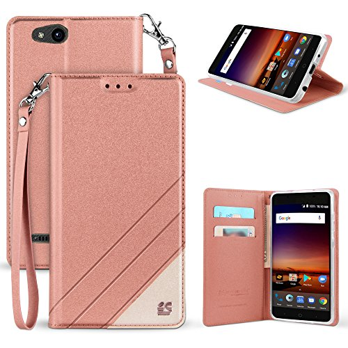 ZTE Blade Vantage Case, ZTE Tempo X Case, Customerfirst Luxury PU Leather Wallet Flip Protective Case Cover with Card Slots and Stand for ZTE Blade Vantage Z839/ZTE Tempo X N9137 - Tay Online Store