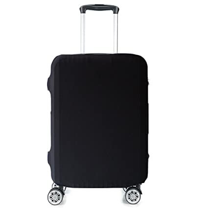 9162b546923a HoJax Spandex Travel Luggage Cover, Suitcase Protector Bag Fits 19-21 Inch  Luggage Black