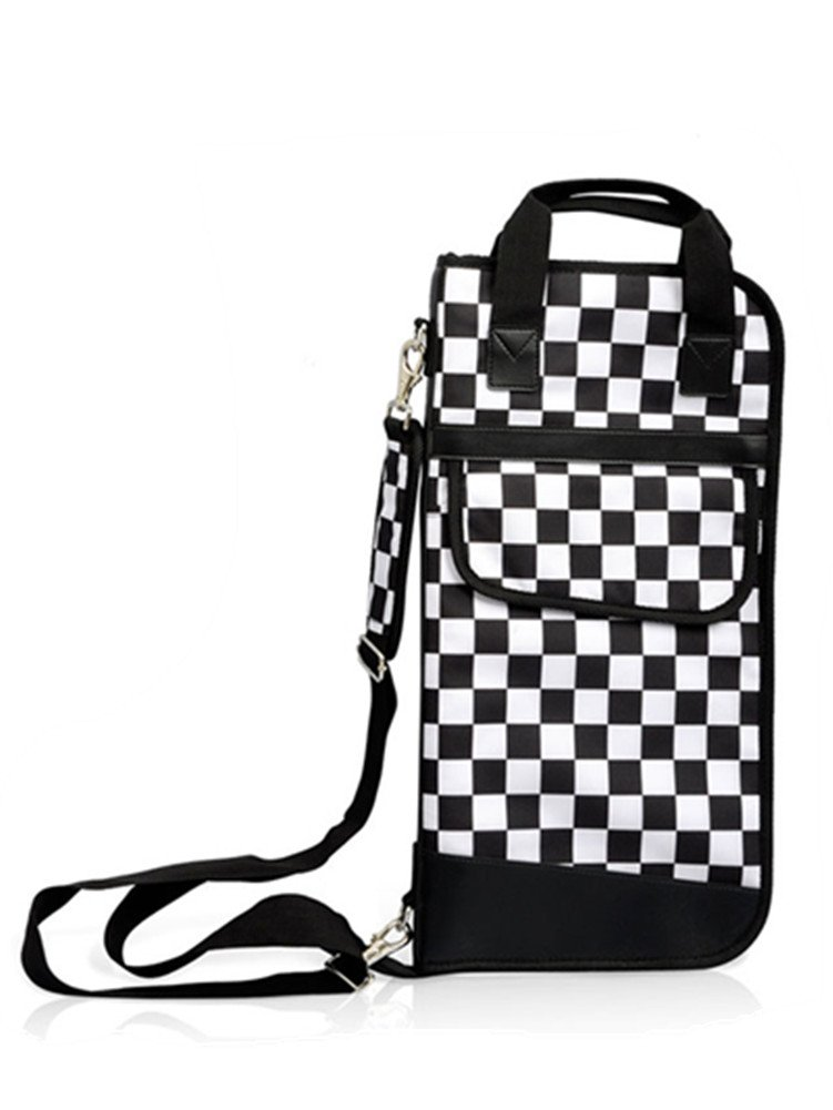 Skyseen Black and White Grid Standard Drum Stick/Mallet Bag with External Pocket S00329