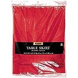 Amscan International Tableskirt en plastique S/C (Apple Rouge)
