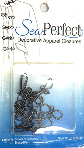 Decorative Hooks and Eyes, Sew Perfect Apparel Closures- Pewter GUN (Trim Hook And Eye Closure)