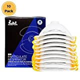 AMSTON Dust Masks, N99 NIOSH-Certified Safety Respirator with Valve (Box of 10) Personal Protective Equipment / PPE Ventilated Particulate Respirators for Construction, Home Improvement, DIY Projects