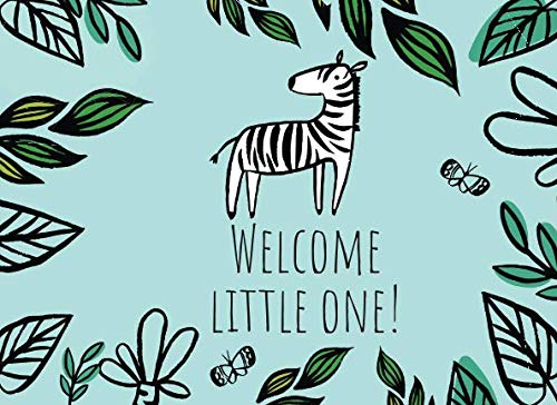 Welcome Little One!: Baby shower guest book for writing messages and advice in. Very cute hand drawn illustration style art.