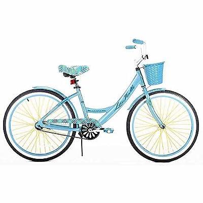 24 Girls' Cruiser Bike, aluminum, No fuss single speed, rubber seat, fender by MegaDeal