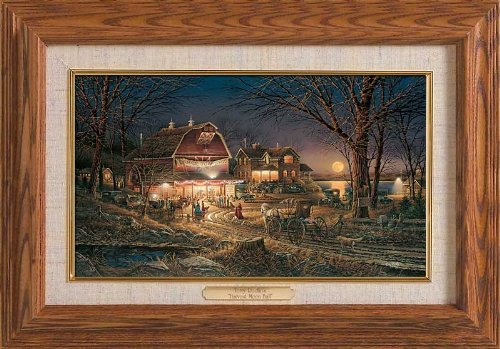 Wild Wings Harvest Moon Ball Framed Oak Master Stroke by Terry Redlin