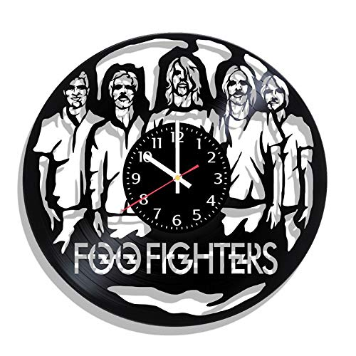 BombStudio Foo Fighters Vinyl Record Wall Clock, Foo Fighters Handmade for Kitchen, Office, Bedroom. Foo Fighters Ideal Wall Poster]()