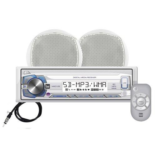 UPC 827204109076, Dual MCP105 Marine Digital Receiver with 6.5-Inch Speaker - Set of 1