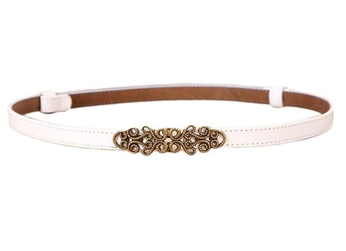 Oyccen Mujer Cinturón de Cuero Ajustable para Vestido Jeans Cinturones Fino  con Hebilla de Aleación  Amazon.es  Ropa y accesorios 4d7225dc435b