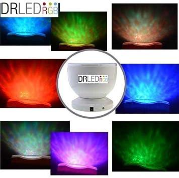 DRLEDRGB® Proyector Auroras boreales, Luz nocturna LED, luces led ...