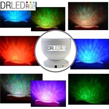 DRLEDRGB® Proyector Auroras boreales, Luz nocturna LED, luces led, Lámpara nocturna, Lampara noche, bombillas bajo consumo, Ocean Relax ...