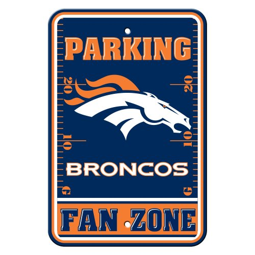Denver Broncos Parking Sign - Fremont Die NFL Denver Broncos Plastic Parking Sign